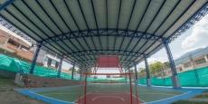 Construyen cubierta en el polideportivo del barrio San Cayetano